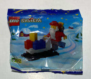 LEGO System Santa Claus and Sleigh 1807 NEW SEALED IN BAG RARE FROM 1995