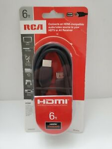 RCA 6 Ft. Black Standard HDMI Cable for HDTV DVD HD Satellite Receiver