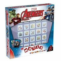 OFFICIAL MARVEL AVENGERS TOP TRUMPS MATCH 5 IN A ROW CLASSIC MEMORY GAME