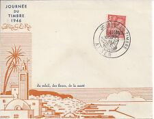 ALGERIE - Enveloppe 1er Jour - JOURNEE du TIMBRE 1946 ALGER