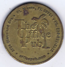 THE OFFICE PUB OLDEST GAY BAR in FORT MYERS FLORIDA DRINK CALL TOKEN CIRC 3 CMS