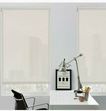 GLOWE Cordless 5% Solar Roller Shade in Grey Sand