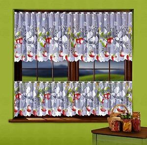 CAFE NET CURTAINS - STRAWBERRY - SOLD BY METERS