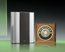 Libra+ Classic 100m Wireless Doorbell kit Brass Visitors/Tudor Oak, D912TVB