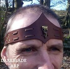 Bird Skull Leather Headband Circlet larp pagan cosplay stage viking costume