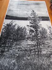 "Rare Mid-Century Mod Vtg 1970s *LEIF LORENTZEN Grautex Art Prints ""LAPLAND"" MCM"