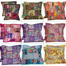 Patchwork Cushion Cover Boho Indian Handmade Pillow Case Home Decor 2 Set New