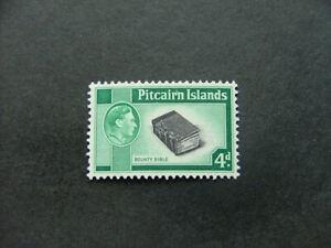 Pitcairn Islands KGVI 1951 4d black & emerald-green SG5b MM