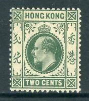 China 1903 Hong Kong 2¢ KEVII Watermarked CCA Scott #72 Mint Z499