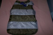 Pet Dog Puffer Jacket Size Medium Up to 29 lbs. NEW with Tags Color: Stripe 1 Ct