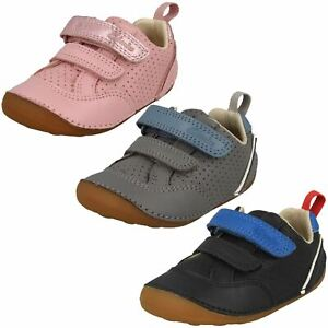Clarks Childrens Casual Hook And Loop Strap Shoes - Tiny Sky T