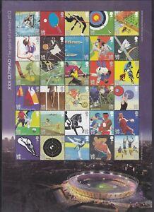 GB QEII 27/7/2011 XXX Olympiad the Sports of London 2012 M/S 3204a U/Mint