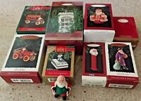 Lot of 8 SANTAS 1992-2000  Hallmark Keepsake Collector's Ornaments,  NEW in Box