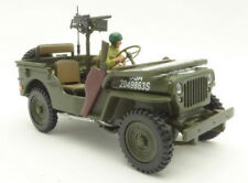 JEEP WILLYS with GUN 1:43 USA ARMY Car Model Die Cast Metal Models Miniature