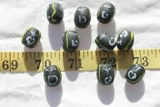 15x12x10mm Barrel Lampwork Glass Beads w/Ghost On The Beads Jewelry Loose/ 10pcs