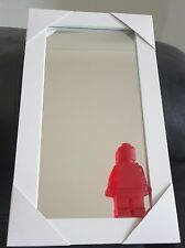 "Small Frame  Lego Wall Mirror Size 14"" x 8"""