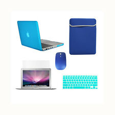 "5 in1 Rubberized AQUA Case for Macbook PRO 15""+Key Cover+LCD +Sleeve Bag +Mouse"