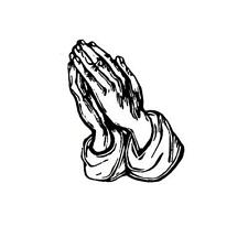 PRAYING HANDS unmounted Christian rubber stamp, prayer, religious #11