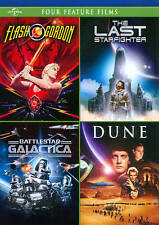 Flash Gordon/The Last Starfighter/Battlestar Galactica/Dune (Dvd, 2012, 4-Disc S