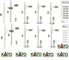 KATO By TOMIX SET 8 FEU DE CIRCULATION RAILS ROSSI+VERT avec BASE NON BRILLANT