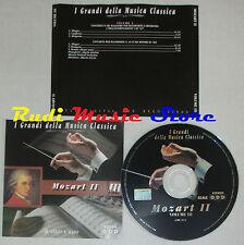 CD MOZART 2 III 2000 GRANDI DELLA MUSICA CLASSICA Giulini lizzio lp mc dvd