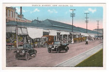 French Market Cars New Orleans Louisiana 1920s postcard