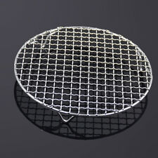 Round Stainless Steel Steaming Barbecue Rack Net Outdoor BBQ Holder Tool