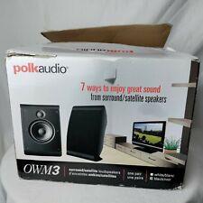 Polk Audio OWM3 Pair Of Surround Sound / Satellite Loudspeakers Black