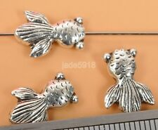 50pcs Tibetan Silver double goldfish Jewelry finding charm Spacer Bead 15mm