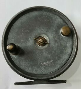 "A RARE VINTAGE 5"" CUMMINS REEL A LARGE NARROW DRUM SALMON FLY REEL COLLECTORS"
