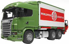 BRUDER: SCANIA R - Camion con Container + Muletto / Truck + Forklift [3580]