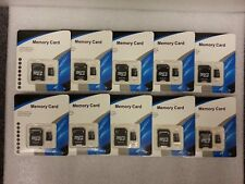 Lot of 10  4GB MicroSD Memory Card with SD Adapter 40MB/s 4GB Pro Retail Package