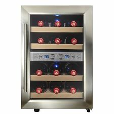 12 Bottle Freestanding Dual Zone Thermoelectric Chiller Cellar Wine Cooler