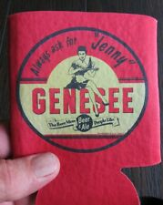 Genesee Beer Always Ask For Jenny Can/Bottle Holder Koozie! Coozie Check It Out!