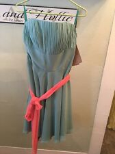 JJ's House Teal Blue Green Strapless Bridesmaid Dress Size 14 New
