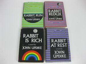 John Updike Lot All 4 Rabbit Hardcovers Rabbit Run / Redux / Is Rich / At Rest