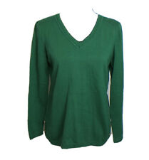 Talbots Women's Green V Neck Pullover Sweater Size SP