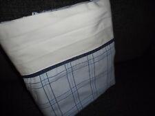 NAUTICA PLAID MULTI BLUE GRID LINES PLAID FULL FLAT SHEET 74 X 85