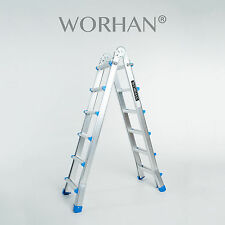 WORHAN®  587cm Ladder Foldable Telescopic Extendable 5.87m Multipurpose Rigid L6