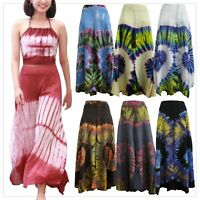Ladies Wide Leg Pants Tie Dye Palazzo Lagenlook Bohemian Gypsy Hippie Trousers