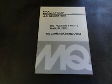 Multiquip GA-2.5H 3.6Hz 6HZR 6HZ A.C. Generators Instructions and Parts Manual