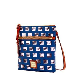 DOONEY & BOURKE NEW YORK GIANTS DOUBLE ZIP CROSSBODY HANDBAG NWT