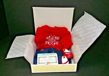 American Girl Bitty Baby Snowflake Dreams Sweater Jean's Shoes Book NIB 3+
