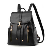 Women's New Backpack Travel PU Leather Handbag Shoulder School Bag Girls Backbag