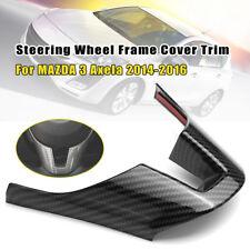 For MAZDA 3 Axela 2014 15 16 Carbon Fiber Style Steering Wheel Frame Cover Trim