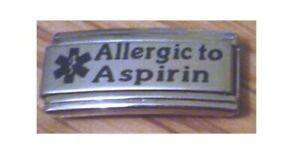 Italian Charms S9 Medical Alert Allergy Allergic To Aspirin