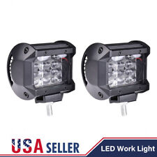 "2x 4"" inch 72W Quad Row LED Work Light Flood Combo Beam OffRoad Driving Fog Lamp"