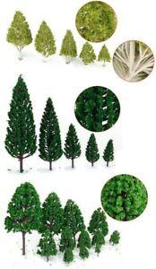 27pcs Green Trees Model 3-16cm 3-TypeTrain Railway Landscape Scenery Multi Scale