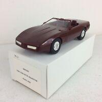 1988 Chevrolet Corvette Roadster Dark Red Dealer Promotional Model Car
