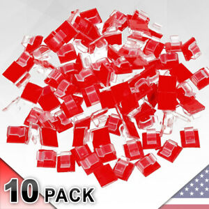 10 Pack Clear Cable Clips Self Adhesive Clip Holder Cord Organizer 10pcs pcs